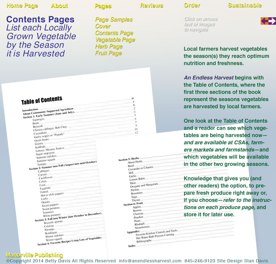 Contents Pages